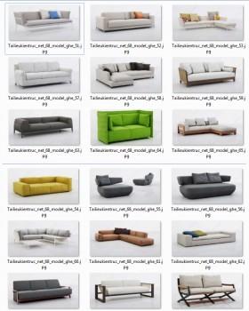 Tổng hợp 18 File 3D model Sofa cực đẹp P6