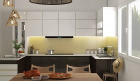 Phối cảnh 3d Nội thất Bếp ăn phong cách Hiện đại 0013
