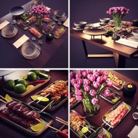 Thư viện 3dsmax tổng hợp Model về đồ trên bàn ăn P8