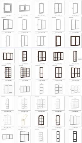 Tổng hợp 50 Model 3dsmax về Cửa Nhôm kính và Cửa nhựa P6