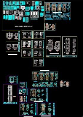 Tổng hợp thư viện mẫu Cửa gỗ file Autocad đầy đủ 05 full