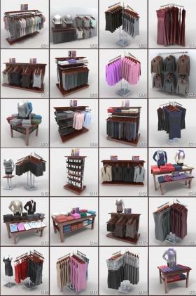 Thư viện 3d 24 model dành cho Shop Quần áo các loại P8
