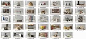 Thư viện 3d tổng hợp về các thiết bị đồ Gia dụng dùng trong Siêu thị P3