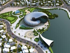 Đồ án tốt nghiệp kiến trúc - File 3dsmax phối cảnh 3d Bảo tàng Full