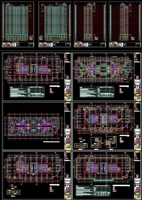 Bản vẽ autocad thiết kế chung cư royal city nhà R6