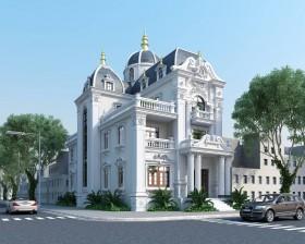 Phối cảnh 3d file Max Biệt thự lâu đài 3 tầng cổ điển 4 full