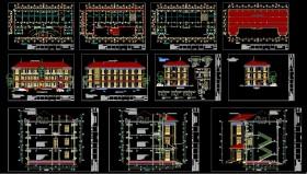 Hồ sơ thiết kế thi công Ủy Ban nhân dân Xã mẫu 07