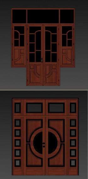 Thư viện 3dsmax 2 model cửa gỗ Việt Nam đẹp