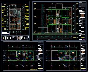 Hồ sơ thiết kế nhà phố 3 tầng diện tích 6x15,2m 090 Full kiến trúc