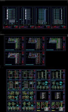 Hồ sơ thiết kế khách sạn 17 tầng mẫu 005 full kiến trúc