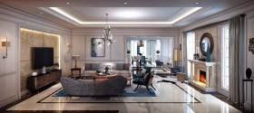 Phối cảnh nội thất 3D phòng khách cổ điển Châu Âu 00033