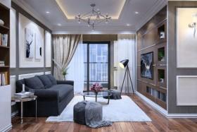 Phối cảnh nội thất 3D phòng khách cổ điển Châu Âu 00034