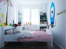 Sence Phòng Ngủ trẻ con 00010 - Thiết kế nội thất phong cách hiện đại