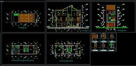 Hồ sơ thiết kế nhà phố 3 tầng diện tích 6x16m 095 Full kiến trúc, kết cấu
