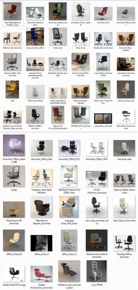 Thư viện tổng hợp 52 model 3d ghế Văn phòng các loại 00030