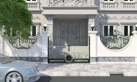Tổng hợp Model 3d Cổng biệt thự phong cách tân cổ điển P8