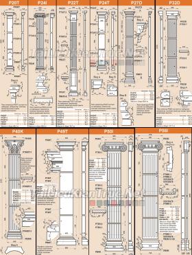 Thư viện 3d tân cổ điển tổng hợp 30 moldel thức cột full 3d + Autocad
