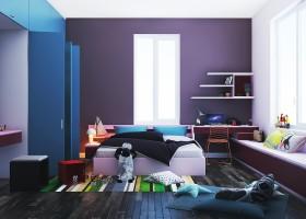 Sence Phòng Ngủ trẻ con 00011 - Thiết kế nội thất phong cách hiện đại