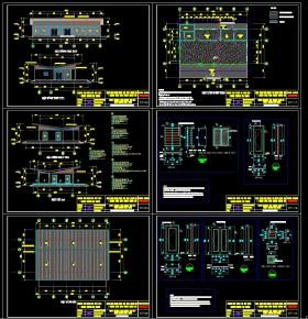 Hồ sơ thiết kế Showroom Trưng bày và giới thiệu sản phẩm full kiến trúc, kết cấu và điện nước