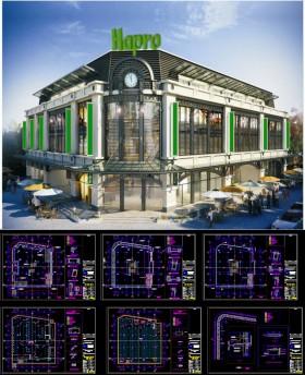 File autocad Hồ sơ thiết kế Trung tâm thương mại Dịch vụ Bắc Qua