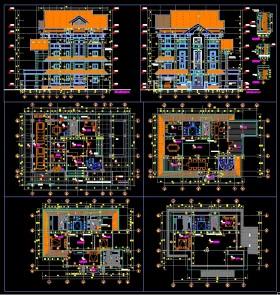 Hồ sơ thiết kế thi công biệt thự 4 tầng mái dốc diện tích 14,3x18,4m 084