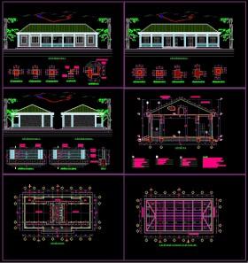 Hồ sơ thiết kế thi công Trường Mầm Non 1 tầng 2 phòng học 9,9x21m M07