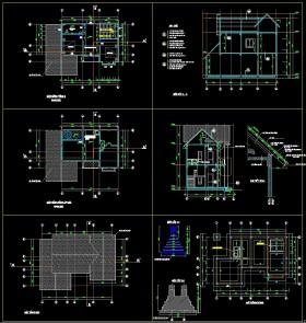 Bản vẽ thiết kế biệt thự đầy đủ KT+KC và cấp điện, cấp thoát nước kích thước 7.5x11.2m 087