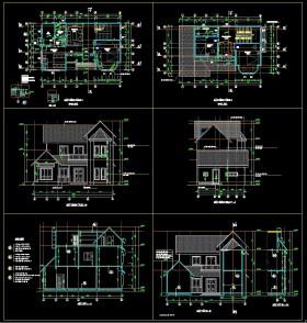 Hồ sơ thiết kế Biệt thự 3 Tầng diện tích 7,4x12,6m 088 Full kiến trúc, điện nước