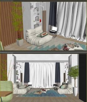 Phối cảnh nội thất 3D phòng khách với phong cách Hiện đại và đẹp 00053
