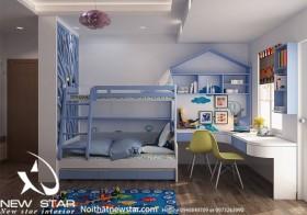 Sence Phòng Ngủ trẻ con 00013 - Thiết kế nội thất phong cách hiện đại