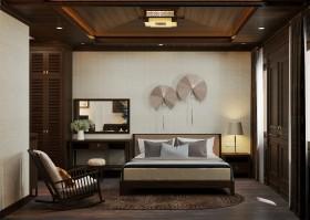 Phối cảnh nội thất 3DsMax phòng Ngủ phong cách tân Á Đông 00056