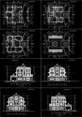 Hồ sơ thiết kế Biệt thự 3 Tầng tân cổ điển diện tích 22,9x18,6m 089