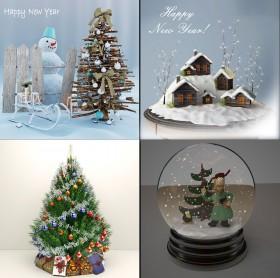 Thư viện tổng hợp 04 Model 3dsmax về vật trang trí mùa Nô en giáng sinh