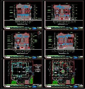 Hồ sơ thiết kế Biệt thự 3 Tầng tân cổ điển diện tích 22,9x18,6m 090