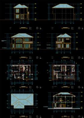 Hồ sơ thiết kế Biệt thự 2 Tầng diện tích 8,5x12,1m 091 full kiến trúc và kết cấu