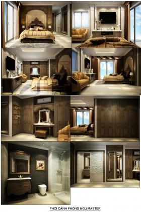 Hồ sơ bản vẽ chi tiết thiết kế nội thất Phòng ngủ Bố mẹ tân cổ điển M03