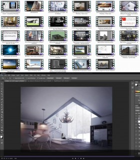 Tổng hợp thư viện video Hướng dẫn hậu kì Nội - ngoại thất trong kiến trúc