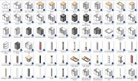 Thư viện Revit về các loại Cabinets Tủ P2