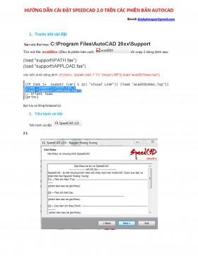 Công cụ vẽ nhanh trong Autocad có tên là speedcad V2.0
