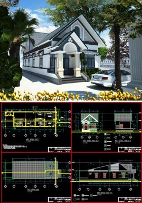 Hồ sơ thiết kế nhà 1 tầng 6,3x21,6m full kiến trúc 022