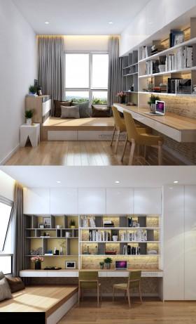 Sence 3d Phòng làm việc 00003 - Nội thất đọc sách và làm việc
