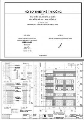 Hồ sơ thiết kế Tòa nhà Văn phòng làm việc 5 tầng mẫu 006 file PDF