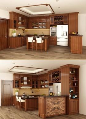 Phối cảnh 3d Nội thất Bếp ăn phong cách Hiện đại 0014