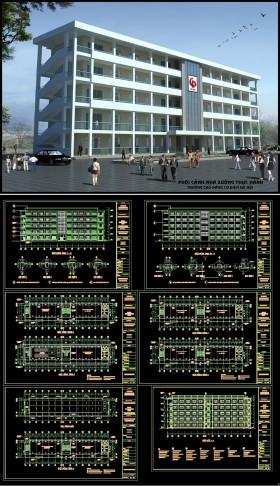 Hồ sơ thiết kế thi công nhà Xưởng thực hành Trường cao đẳng nghề hà nội 5 tầng 11x55m M09