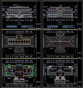 Hồ sơ thiết kế thi công Đền thờ mẫu số 011 diện tích 28,5x41,8m