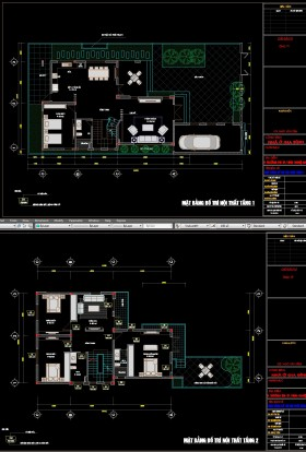 Mặt bằng thiết kế Biệt thự 3 Tầng trên khu đất diện tích 13x25m - 0096