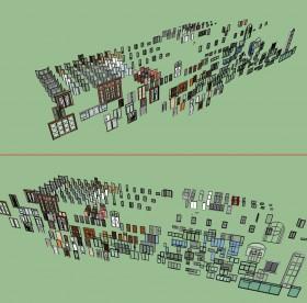 Tổng hợp Thư viện hơn 200 Model 3d cửa đi, cửa sổ các loại file Sketchup P3