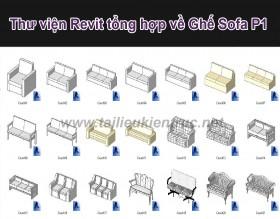 Thư viện revit tổng hợp về ghế Sofa các loại P1