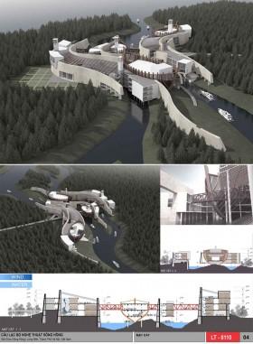 Đồ án tốt nghiệp kiến trúc -  Câu lạc bộ Nghệ thuật sông Hồng