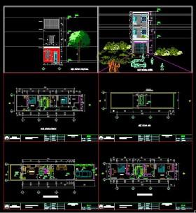 Hồ sơ thiết kế nhà phố 3 Tầng hiện đại diện tích 4x12,9m - 107 full kiến trúc, kết cấu và điện nước